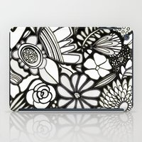 Flowers On The Wall Black & White Edition iPad Case