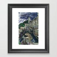 Castelgrande Without Framed Art Print