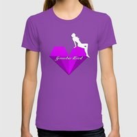 GEOMETRIC HEART® - Purple Special Edition -  Womens Fitted Tee Ultraviolet SMALL