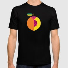 Fruit: Peach Mens Fitted Tee SMALL Black