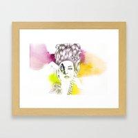Butterfly Lady Framed Art Print