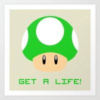 Get A Life! (Super Mario… Art Print