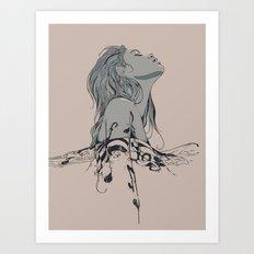 Floating in The Rhythm Art Print