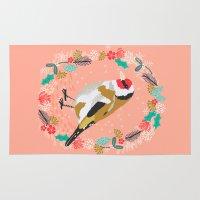 European goldfinch by Andrea Lauren  Rug