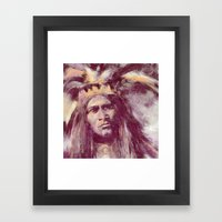American Indian Portrait Framed Art Print