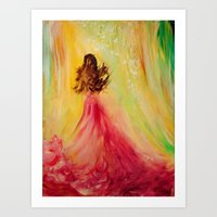 EXPECTING Art Print