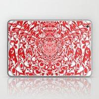 Illusionary Daisy (Red) Laptop & iPad Skin