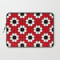 Retro Mosaic Red & Black Laptop Sleeve