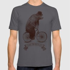 Bears On Bicycles Mens Fitted Tee Asphalt SMALL