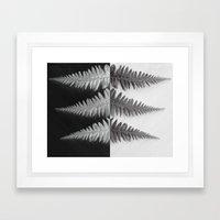 OPPOSITES LOVE - Ferns love Framed Art Print