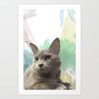 Gail The Cat Art Print