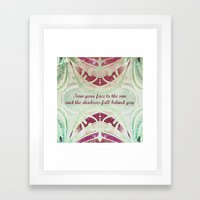 Saying Framed Art Print