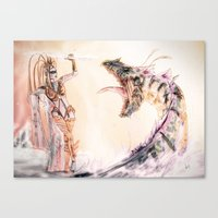 Leviathan against Shiva Canvas Print