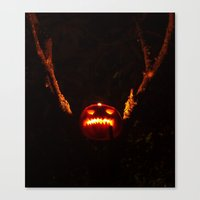 Canvas Print featuring Samhain sentry by Vorona Photography