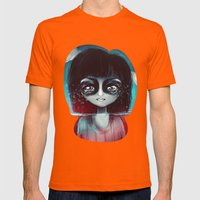 What lies Mens Fitted Tee Orange SMALL