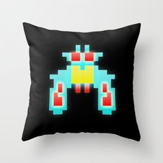 Galaga Exterminator Throw Pillow