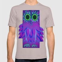 NIGHT OWL Mens Fitted Tee Cinder SMALL
