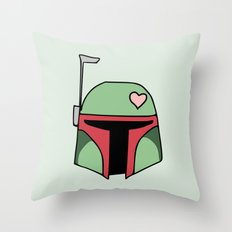 Boba Fett Valentine Throw Pillow