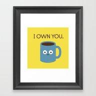 Framed Art Print featuring Coffee Talk by David Olenick