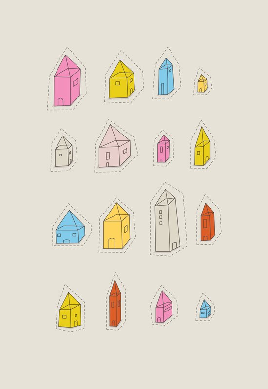 Transparent Houses Art Print