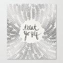 Treat Yo Self – Silver Canvas Print