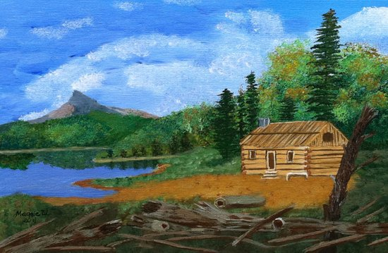 Old cabin Art Print