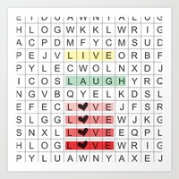 Word Search II Art Print