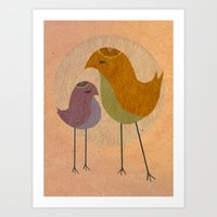 Two Birds, So Stoned Art Print