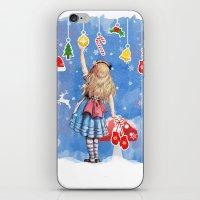 Alice Winter Wonderland, Christmas Design iPhone & iPod Skin