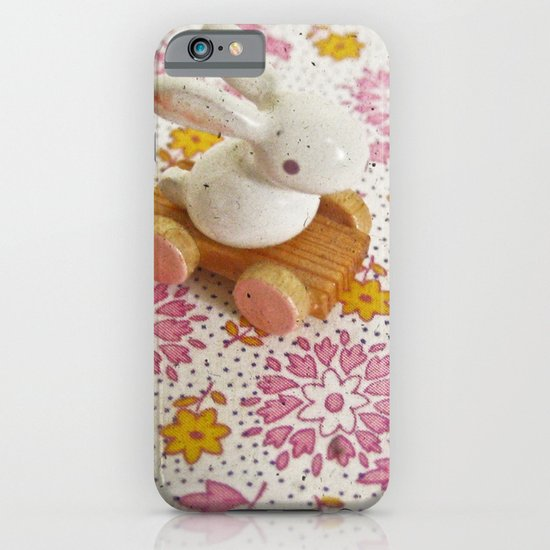 Bunny on Pink iPhone & iPod Case