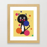 kitcat Framed Art Print