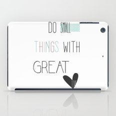 Do small things, typography, quote, inspiration iPad Case