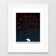 Falling Star Constellati… Framed Art Print