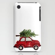 Red Christmas Beetle  iPhone (3g, 3gs) Slim Case