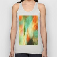 Abstract Art II Blue/Black/Green/Red Unisex Tank Top
