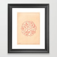 Butts (Peach) Framed Art Print