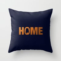 Alabama home state faux copper foil print Throw Pillow