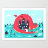 Dragon Castle Art Print
