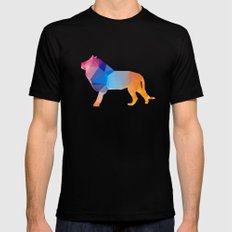 Glass Animal Series - Lion Black Mens Fitted Tee SMALL