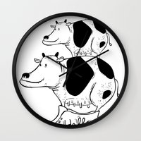 cow baby Wall Clock