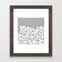 Ab Lines 45  Framed Art Print