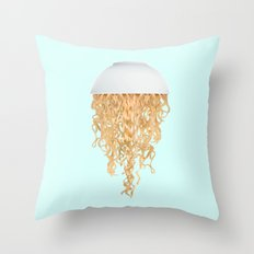 JELLY NOODLES Throw Pillow