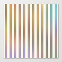 Striped Pattern In Paste… Canvas Print