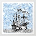 Nautical Series - The Ship Art Print