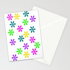 Star Flowers Stationery Cards