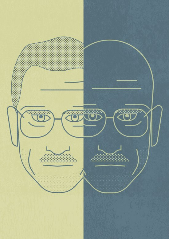 Breaking Bad - Faces - Double Walter White Art Print