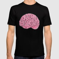 Your Mind is Infinite SMALL Mens Fitted Tee Black