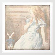 Vintage Alice in Wonderland Art Print