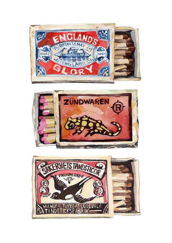 Matchboxes Art Print