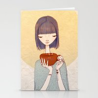 coffee Stationery Cards featuring coffee by Renia